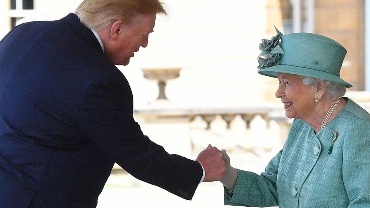 Trump Just Completely Panicked And Gave The 93-Year-Old Queen A Power Death Grip Handshake (Photo)