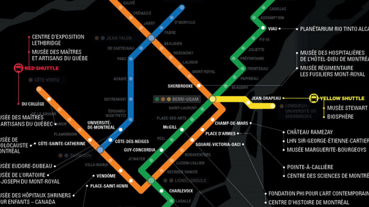 """Montreal's All-New """"Free Museum Day"""" Metro Map"""