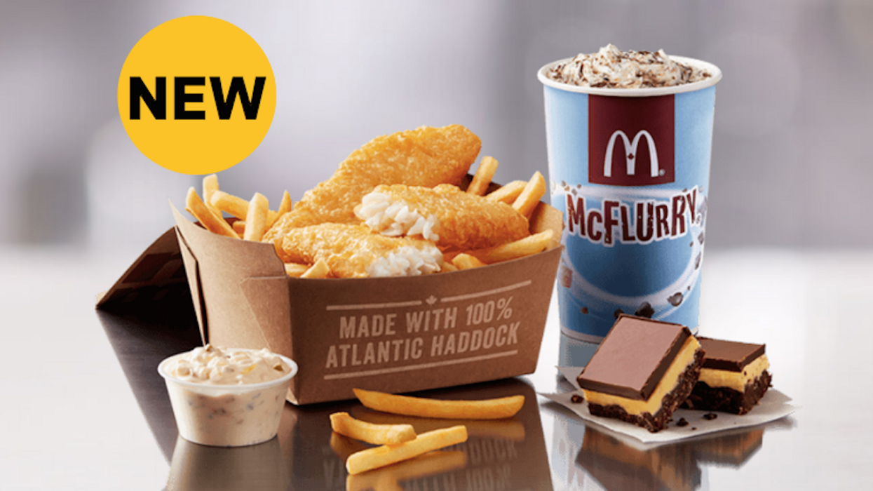 """McDonald's Canada Unveils New """"Fish & Chips"""" And """"Nanaimo McFlurry"""" For A Limited Time Only"""
