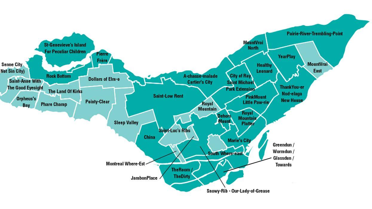 Montreal's All-New Bilingual Borough Map