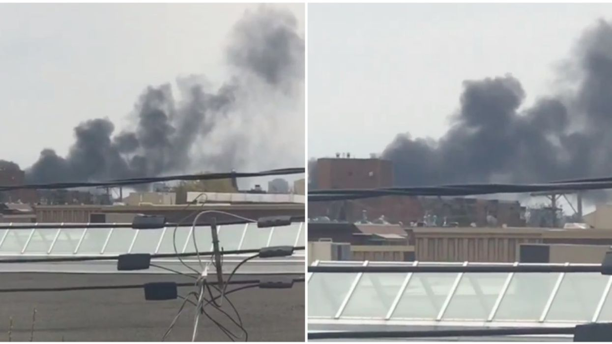 Major Fire Near Olympic Stadium Now A 5-Alarm Blaze, Officials Warning People To Avoid The Area