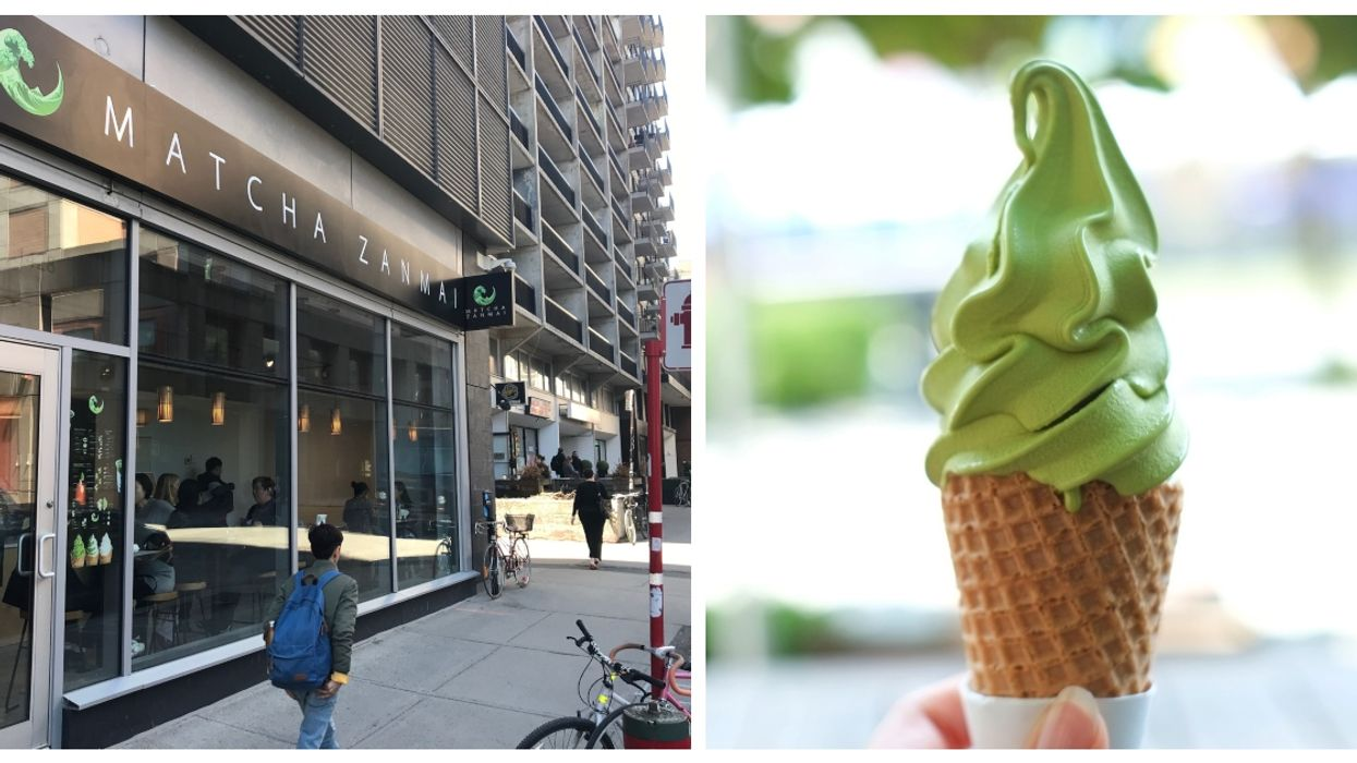 Downtown Montreal Has An All-New Matcha Café And Ice Cream Shop