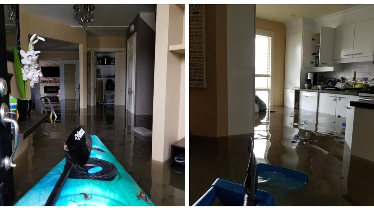 Quebec Woman Has To Kayak Through Her Own Home After Floods Devastate Montreal Area (Videos)