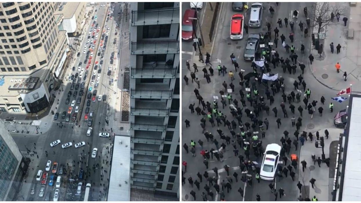 Protesting Taxi Drivers Have Shut Down Streets In Downtown Montreal (Photos & Videos)