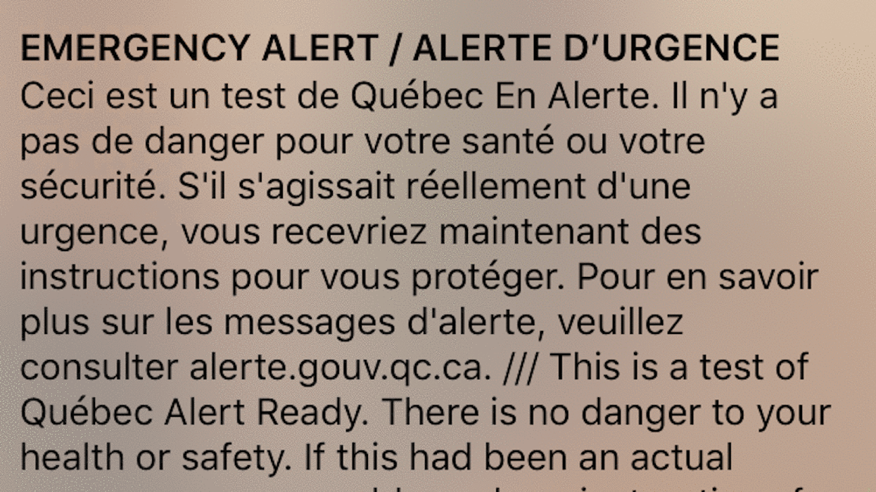 The Government Of Canada Will Be Sending Emergency Alerts To Your Phone Next Month