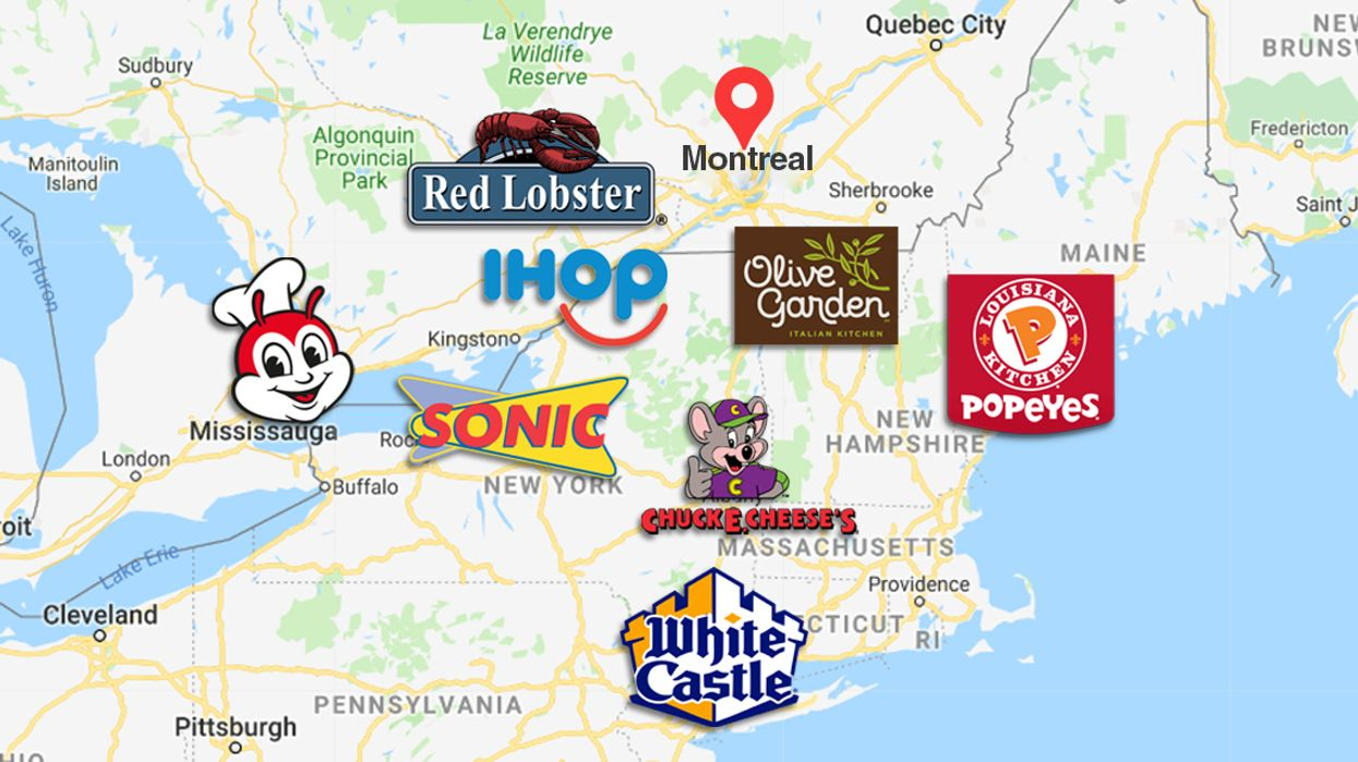 Map Of BEST The Restaurants We Wish We Had In Quebec And Their Closest Location