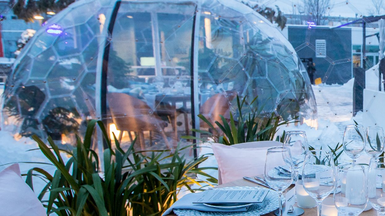You Can Eat Dinner Inside A Dome In Montreal This Spring