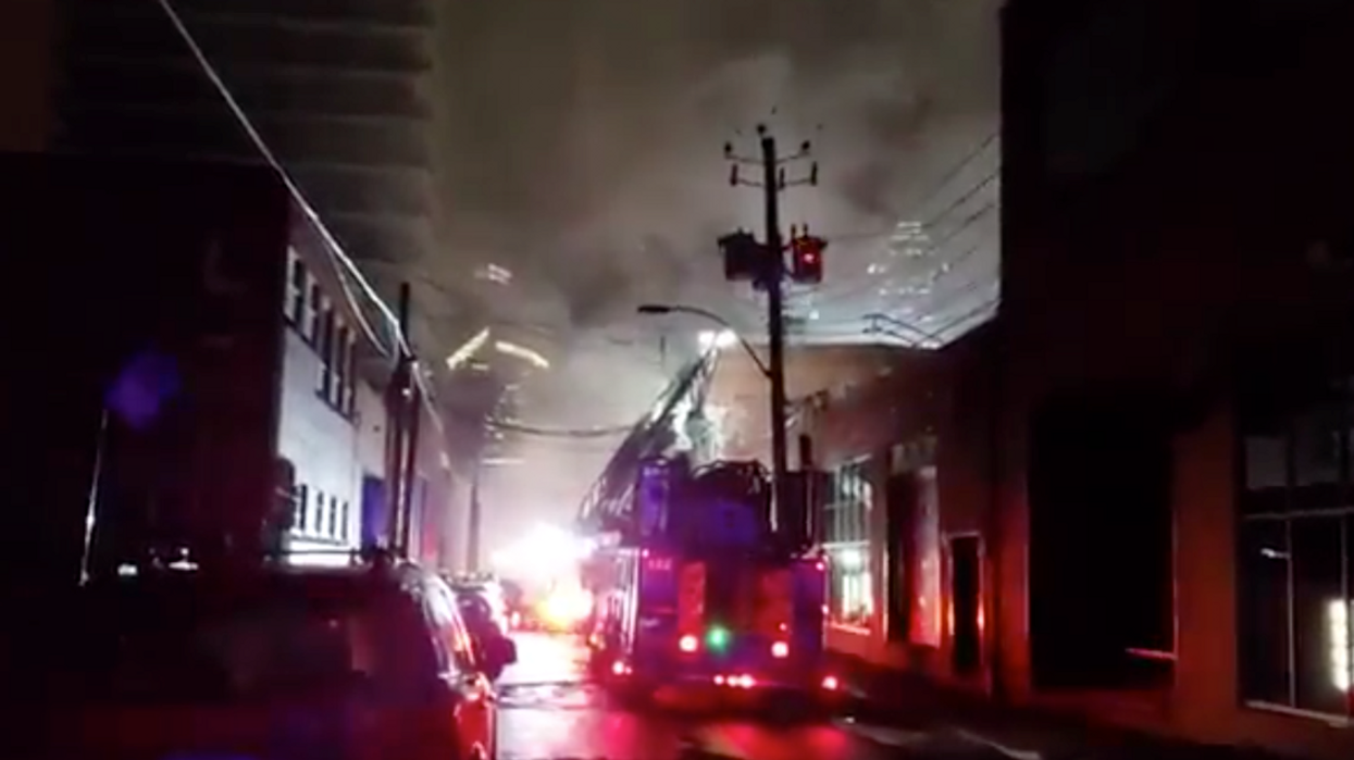 Video Of At Least 80 Firefighters Battling A 3-Alarm Fire In Montreal This Morning