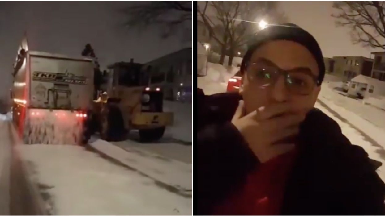 This Plow Moving Snow INTO The Street Perfectly Depicts How Done With Winter Montreal Is