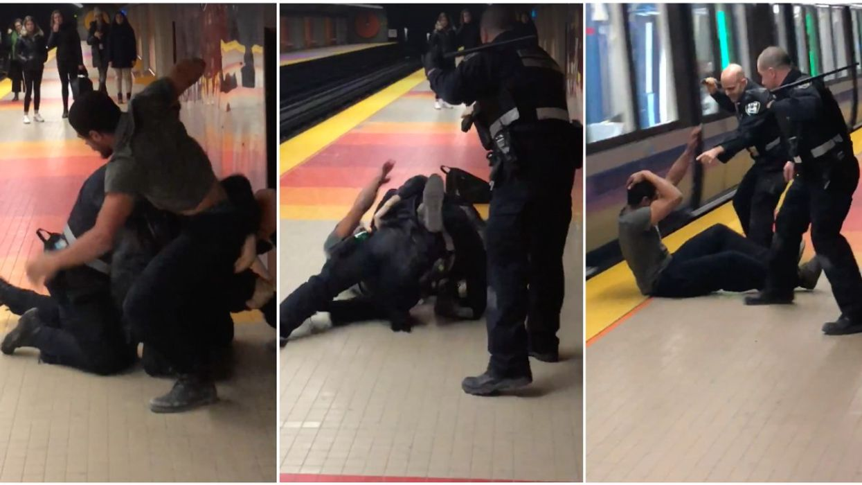 Video Shows STM Officers Beat And Attempt To Arrest A Man Allegedly For Bouncing His Ball On The Montreal Metro