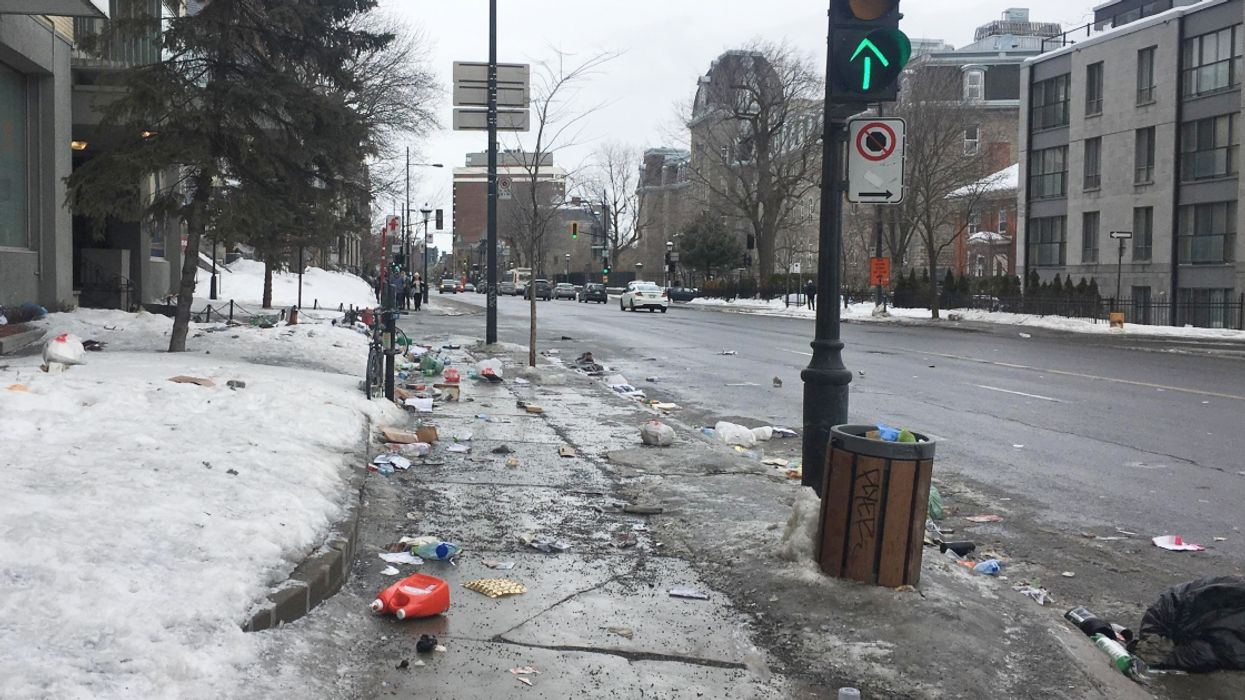 Montreal Is Being Ravaged By The Wind And There Is Trash Everywhere (Videos)