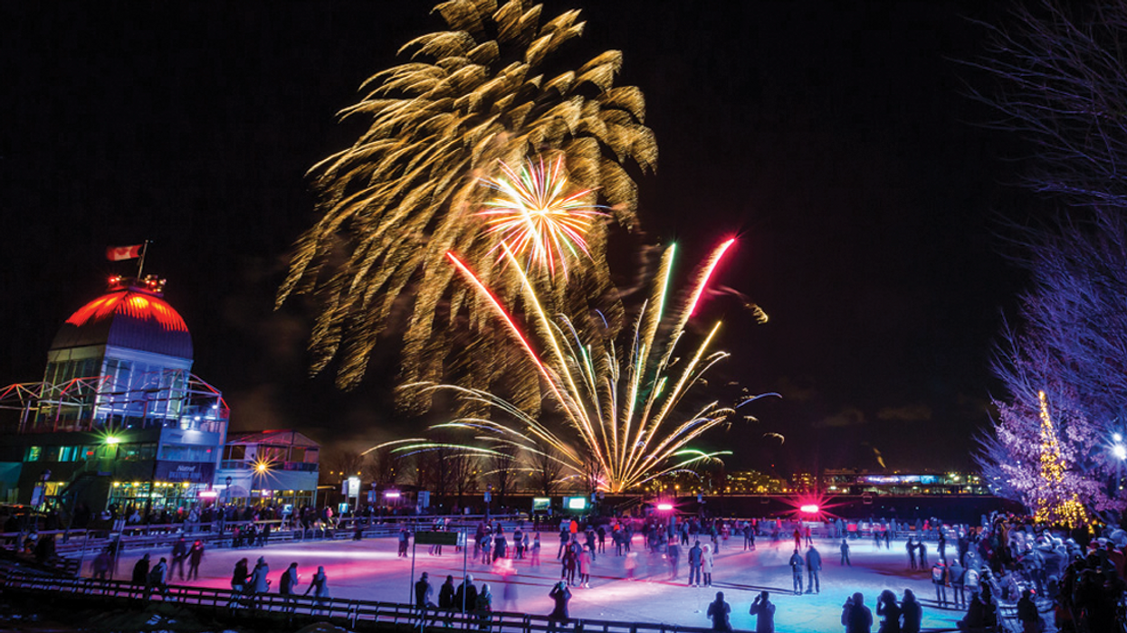 Montreal's Old Port Is Hosting A Giant Holiday Fireworks Festival