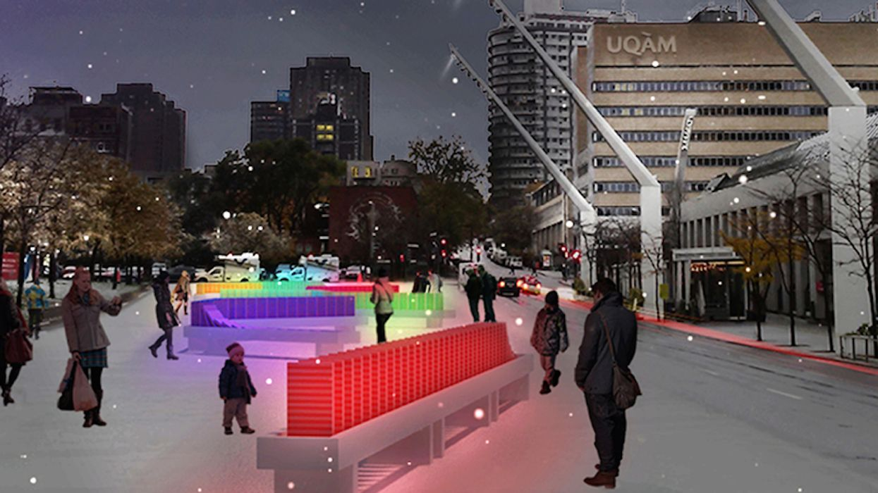 """Montreal's Place Des Arts Is Turning Into A Free """"Winter Wonderland Playground"""""""