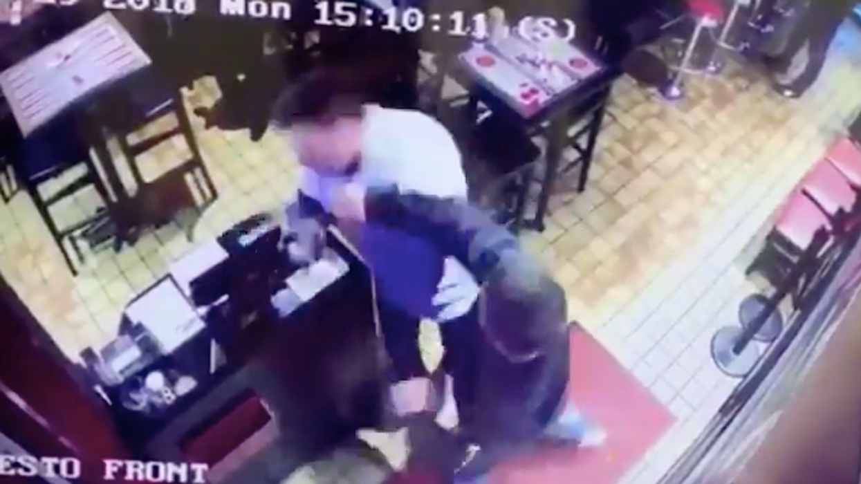Video Showing Man Brutally Attack Montreal Restaurant Worker And Run Away