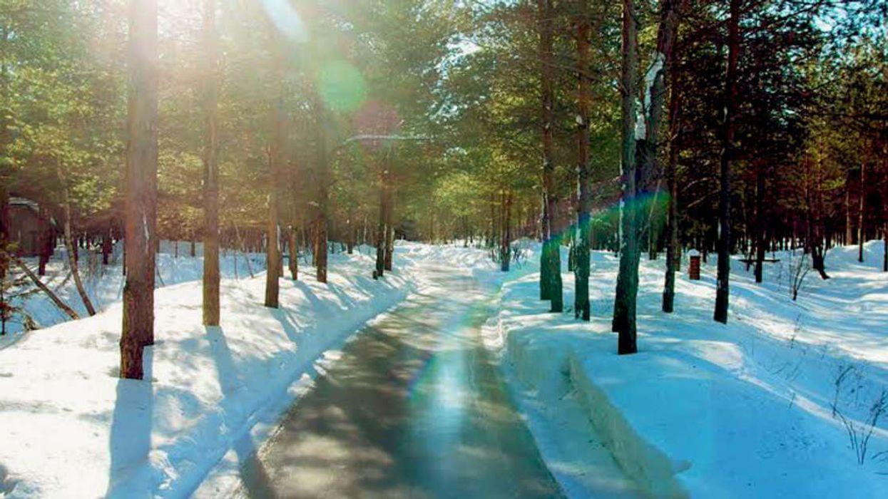 Quebec Has A Secret 12 Kilometer Forest Labyrinth Skating Rink