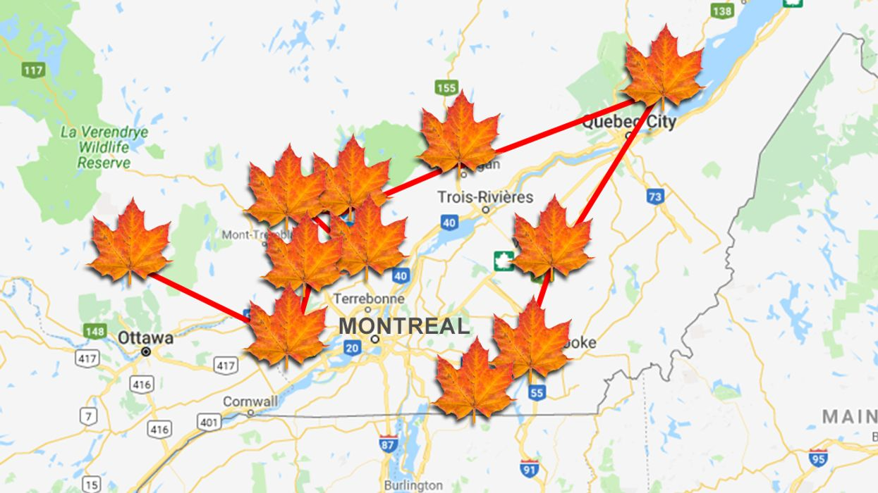 This Map Shows All The Fall Festivals You Can Visit In Quebec