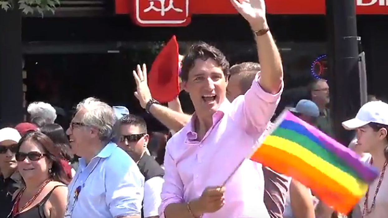 Justin Trudeau Marching At Vancouver Pride 2018 (Video)