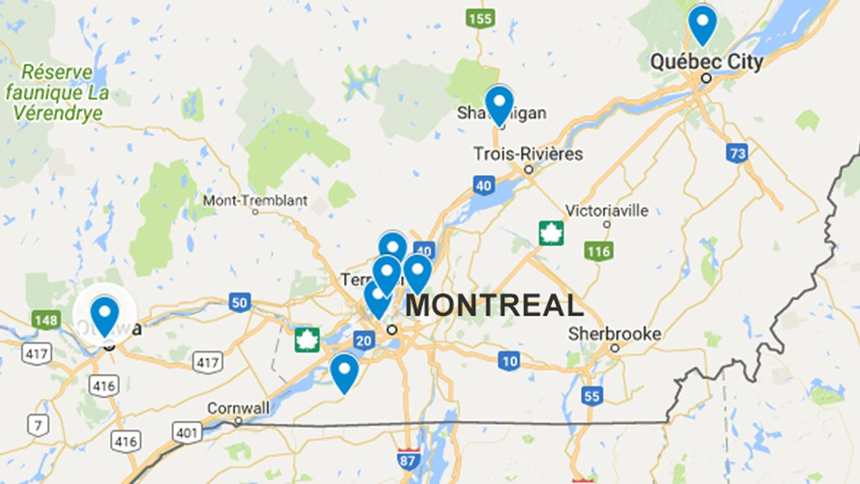 A Map Of The Top 10 Worst Roads In Quebec 2018