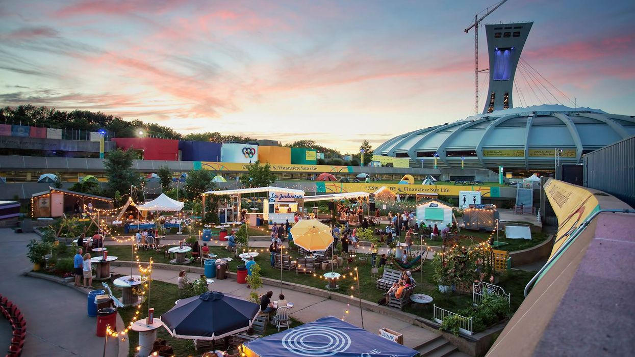 Montreal's Olympic Park Just Opened An Outdoor Cafe-Terrasse That You Gotta Check Out ASAP
