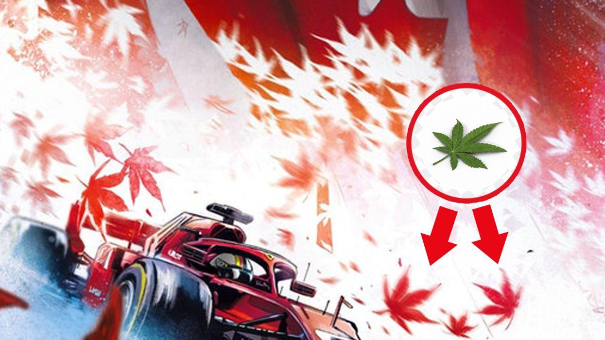 Ferrari Used Marijuana Leaves Instead Of Maple For Their Montreal Grand Prix Poster