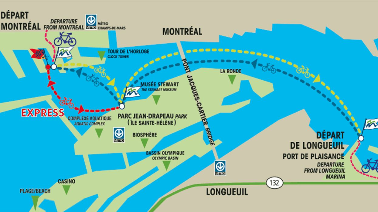 This Map Shows All Of Montreal's Water Taxi Routes