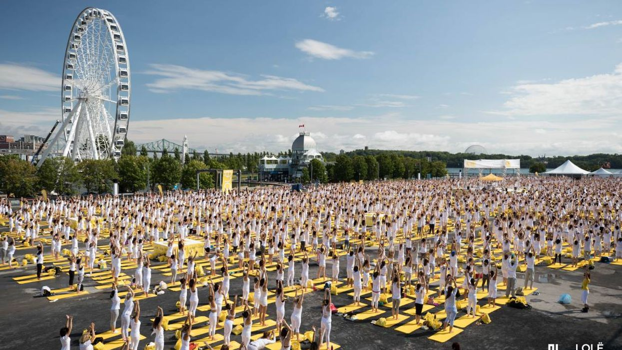 Montreal's Old Port Is Hosting The Biggest Yoga Event Ever
