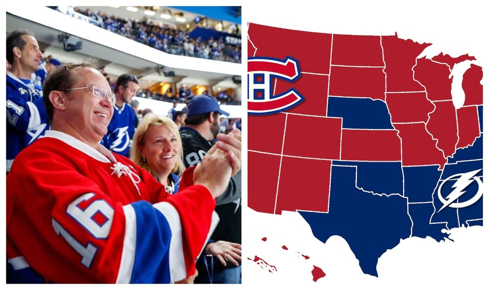 US States Can't Stop Cheering For The Habs Instead Of Tampa & We Get Why (MAP)