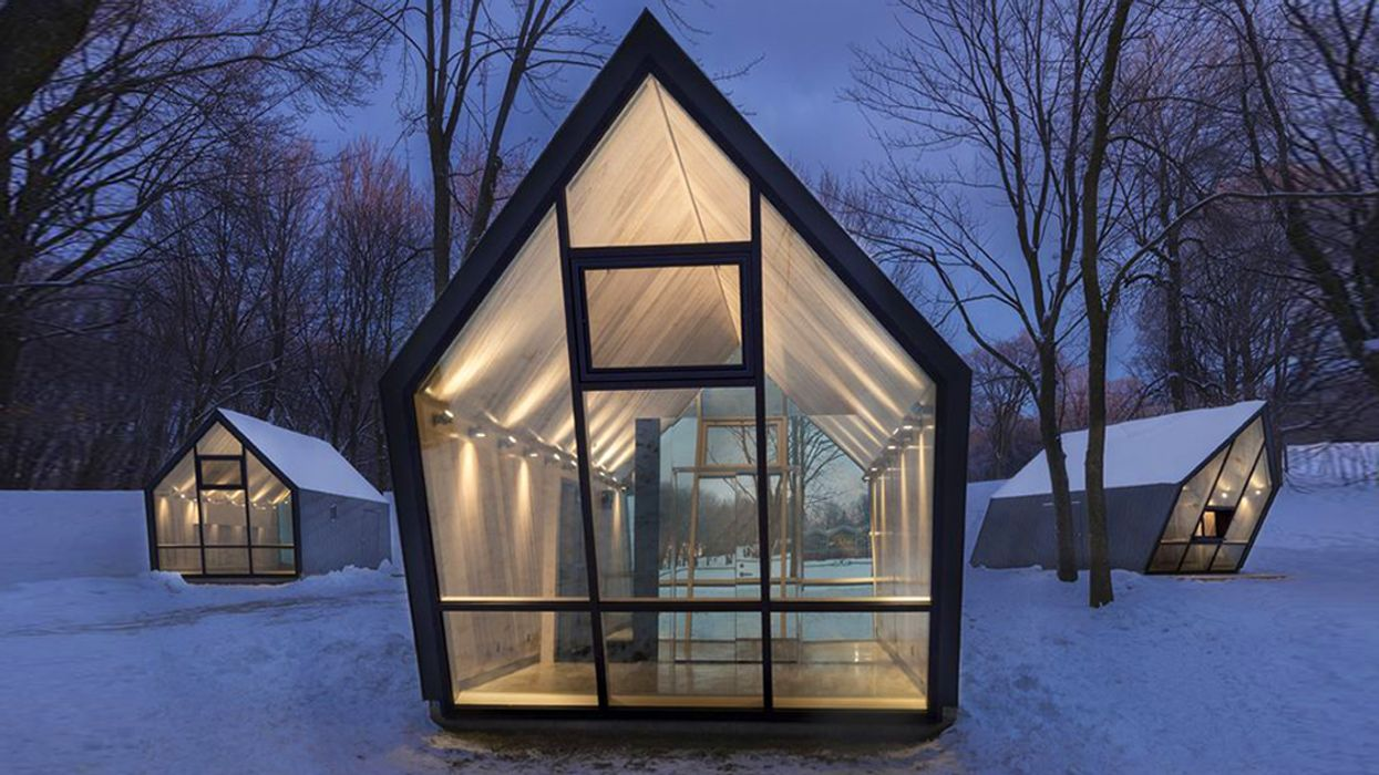 """Mysterious """"Tilted Cabins"""" Are Popping Up On Mount Royal"""