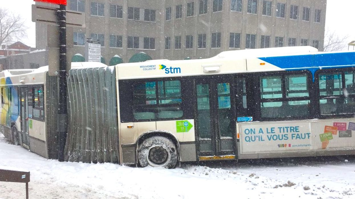 STM Buses Do Not Have Winter Tires On