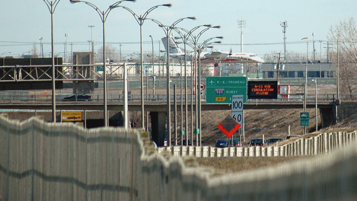 Concrete Beam Falls Off Montreal Overpass