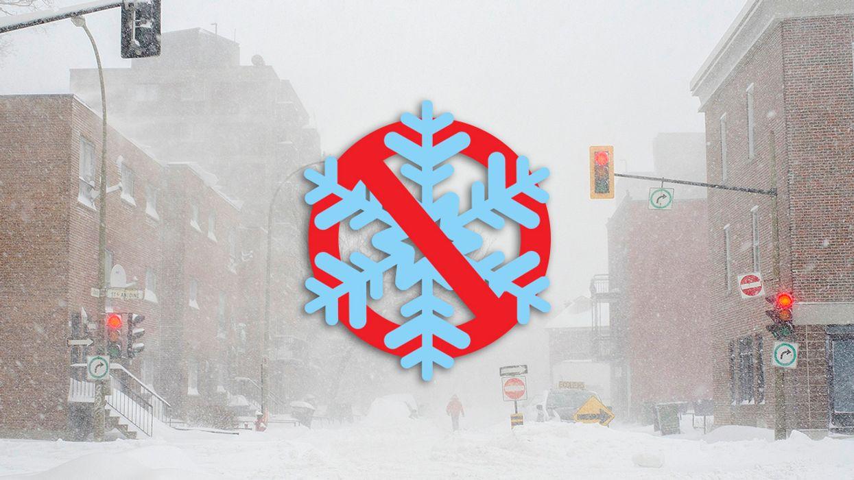 The Horrible Snowy Winter We Were Promised Has Been Postponed