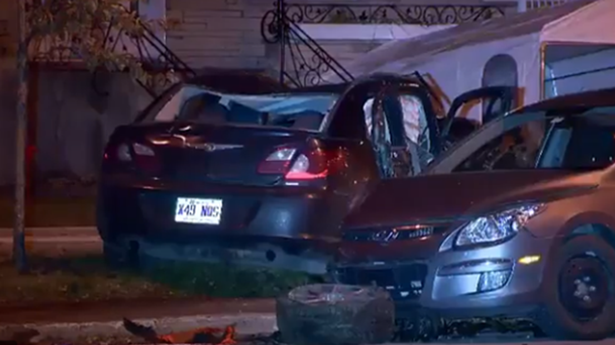 Montreal Driver Gets Into Horrific Five Car Accident