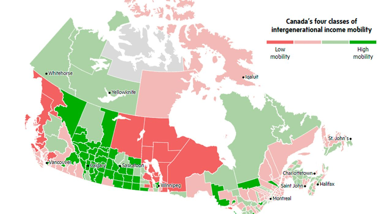 Canadian Map Shows You How Rich You'll Be Depending On Where You Were Born