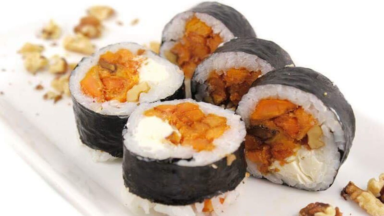 """You Can Now Get Vegetarian """"Sweet Potato Sushi"""" In Montreal"""