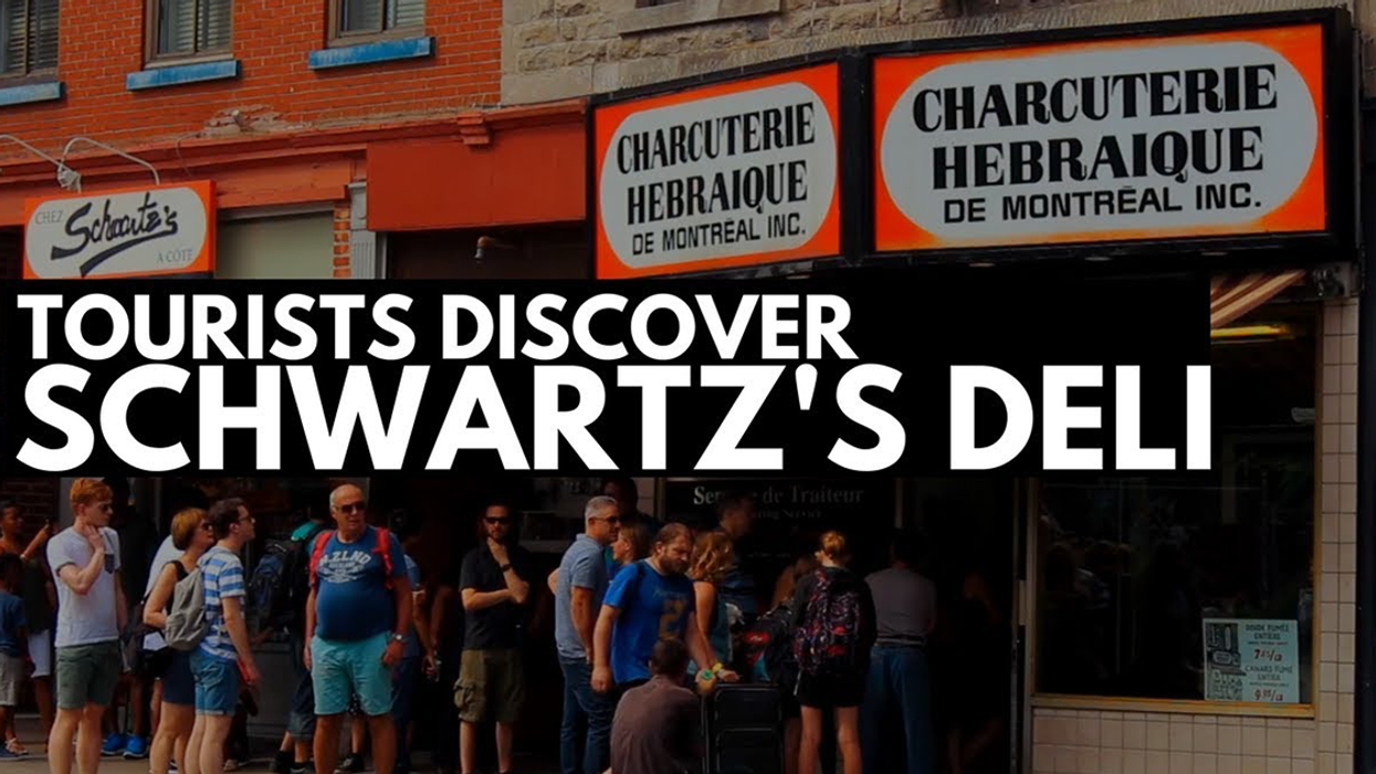 This Video Of British Tourists Eating At Schwartz's Deli Is Going Viral Because, Well, Just Watch It
