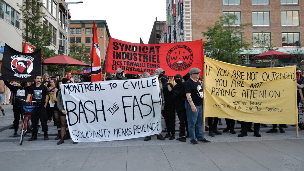 Montrealers Protest Against American Nazis (15 Photos)