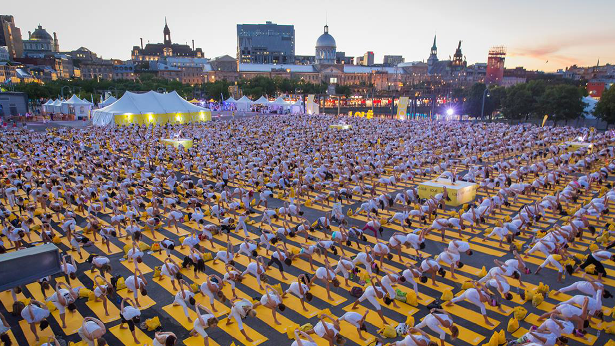 """Lole Is Hosting A Massive """"Yoga Festival"""" In Montreal's Old Port"""