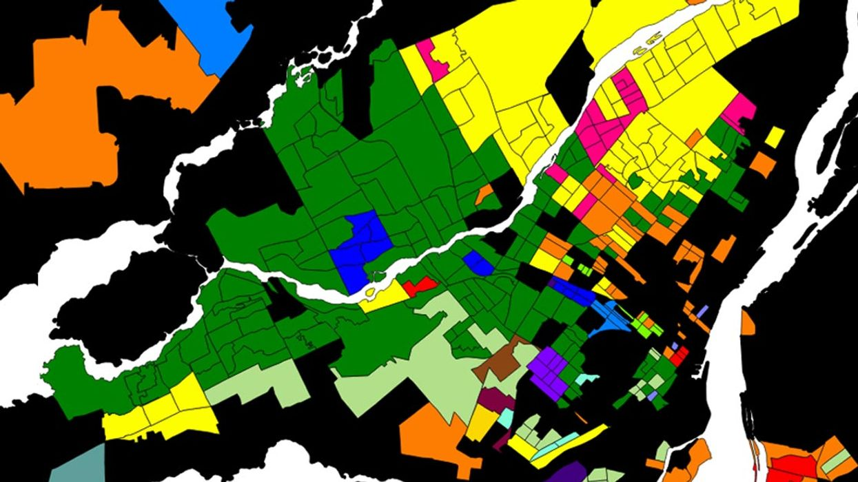A (Super Not Racist At All) Map Of Montreal Showing What Languages Are Spoken In The City
