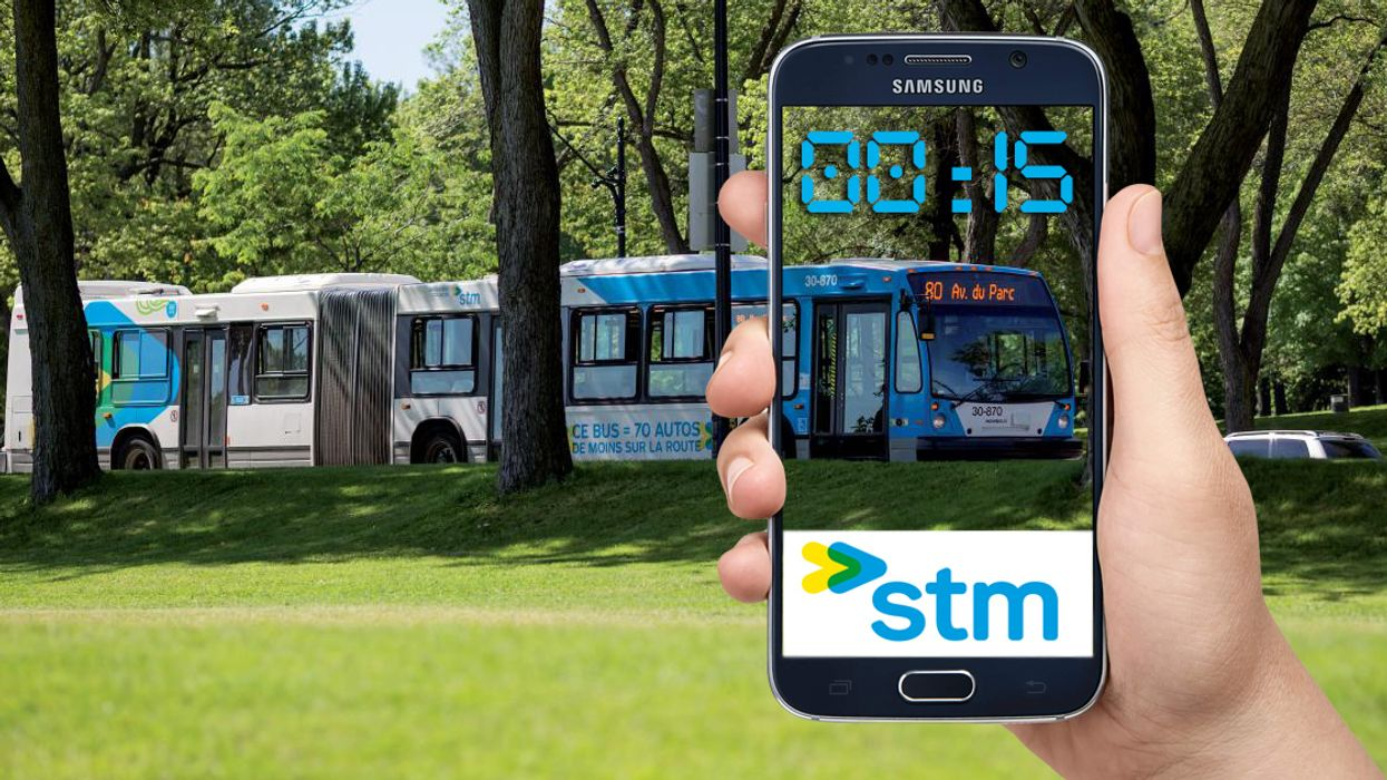 Montreal's New App That Lets You Track Your STM Bus In Real-Time Is Finally Ready