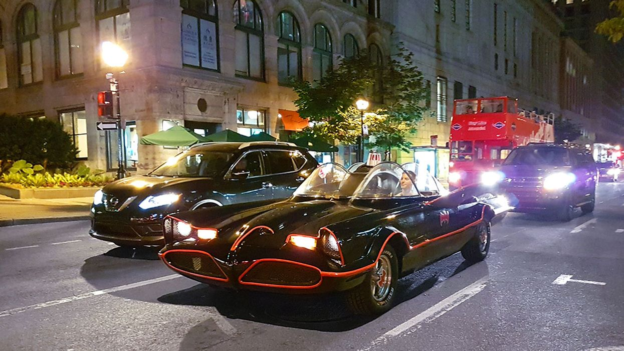 """The Real 1960s """"Batmobile"""" Spotted Driving Downtown Montreal"""