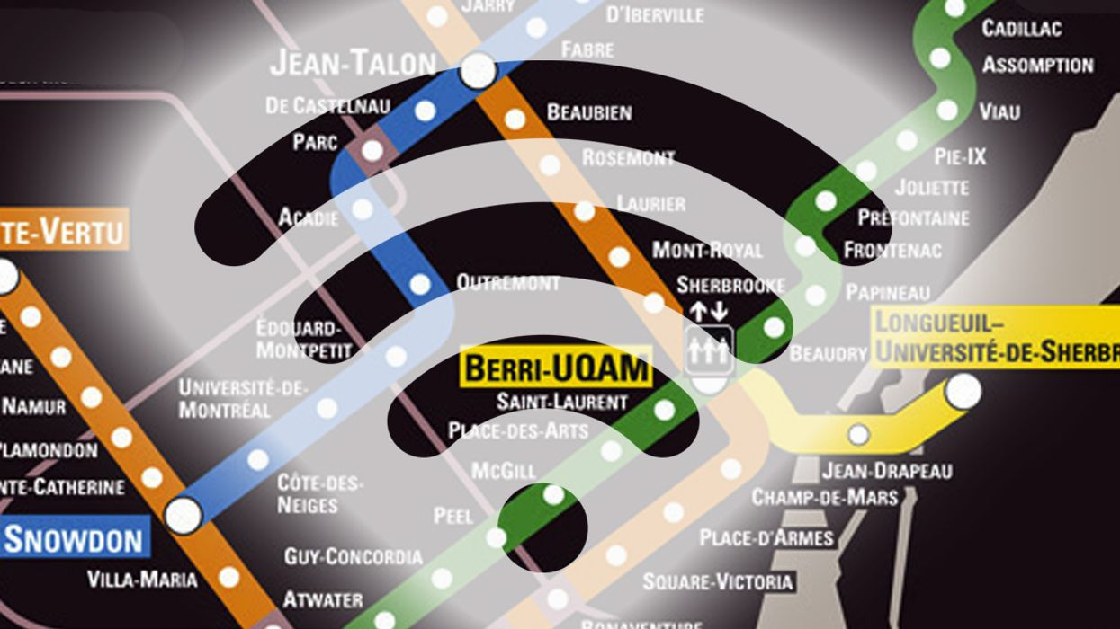 """This Is Montreal's All-New """"Wi-Fi Metro Map"""""""