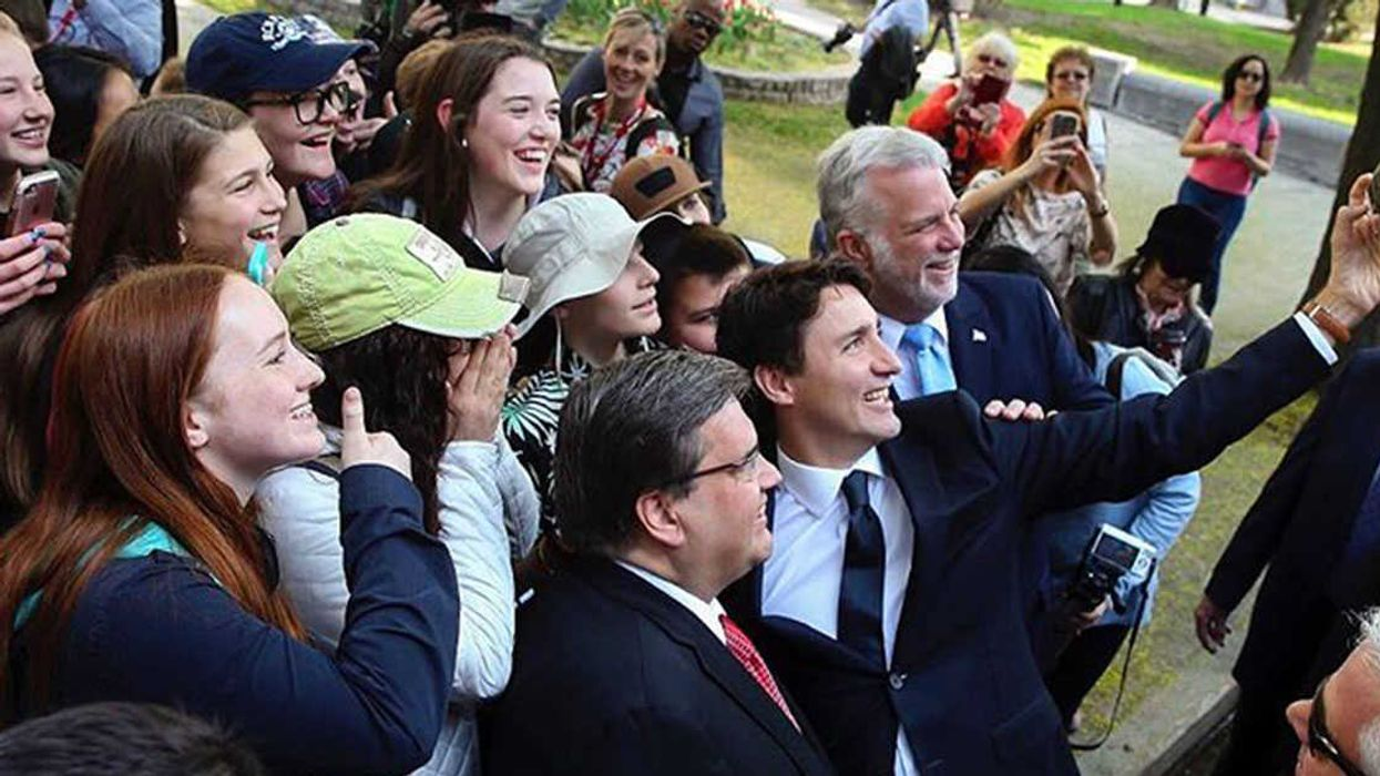Justin Trudeau In Montreal Celebrating And Taking Selfies For The City's 375th Birthday (20 Photos)