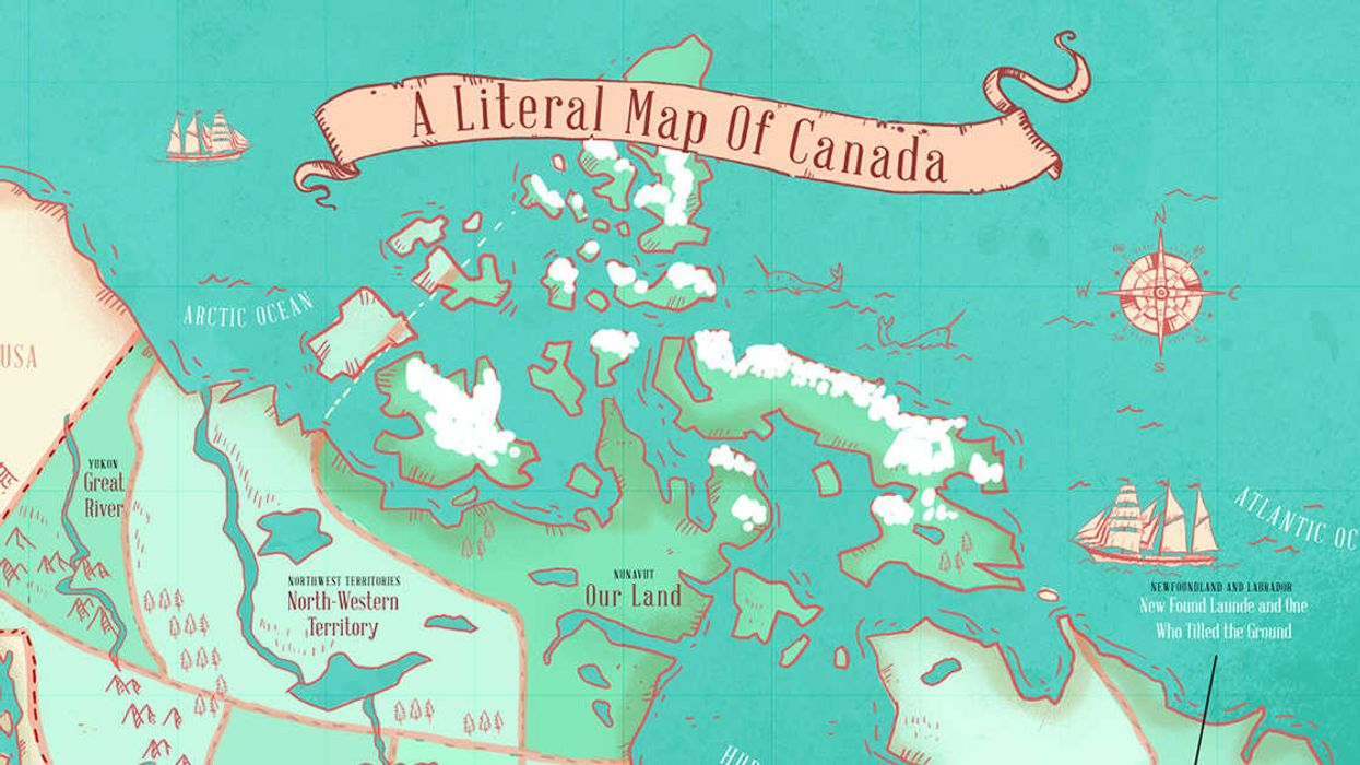 This Map Shows The True Meaning Behind Every Province Name In Canada