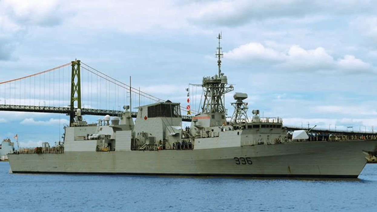 A Canadian Warship Is Docking In Montreal's Old Port For 1 Week