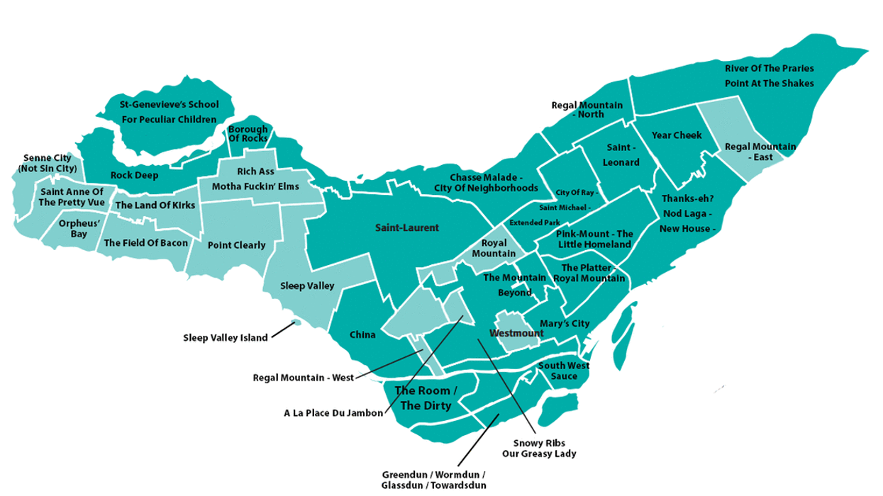 """Montreal's First Ever """"Anglophone Borough Name"""" Map"""