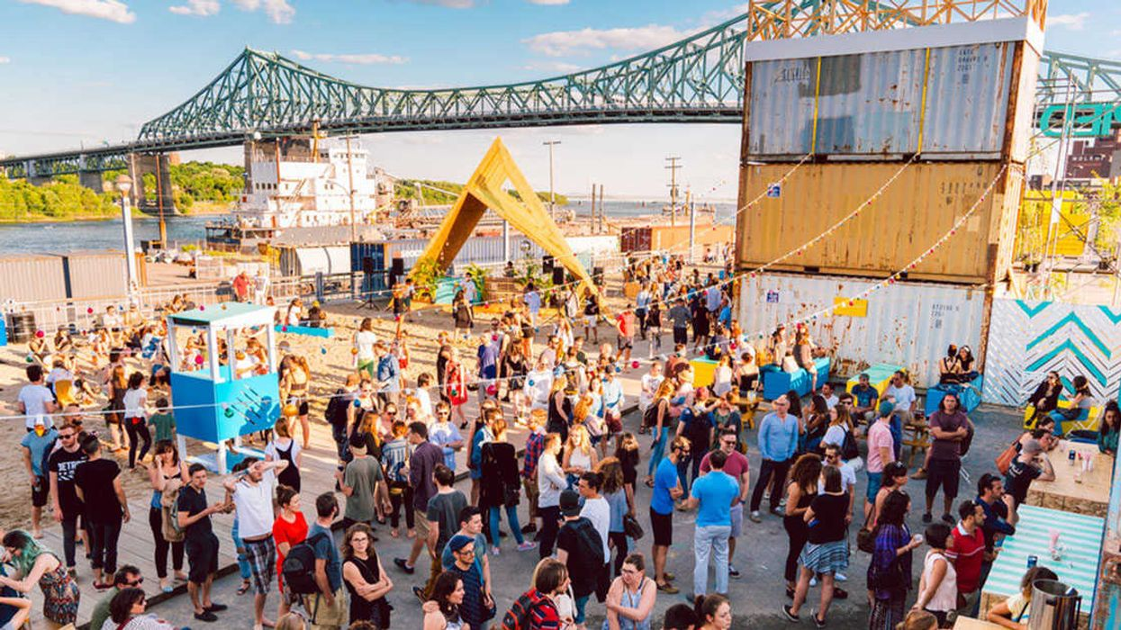 Montreal Opening Up A Huge Public Beach Under The Jacques Cartier Bridge