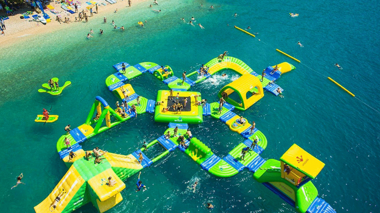 Montreal Is Building A GIANT Aquatic Obstacle Course At Parc Jean Drapeau This Summer