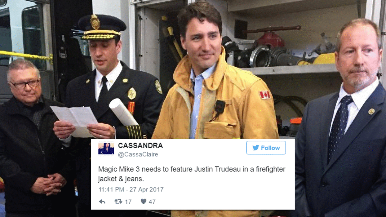 Justin Trudeau Dressed Up As A Fireman And Everyone Lost Their F*cking Minds (15 Tweets)