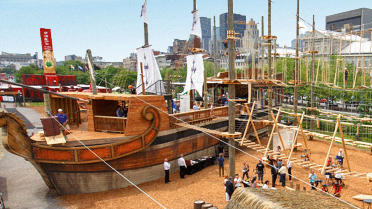 """Montreal Now Has A GIANT """"Pirate Ship Obstacle Course"""" In The Old Port"""