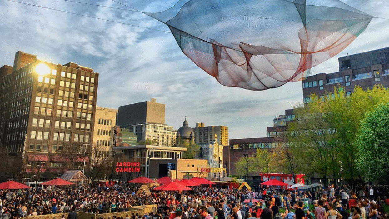 """Montreal's Downtown """"Beer Garden"""" Is Hosting A Huge Free Opening Party This Month"""